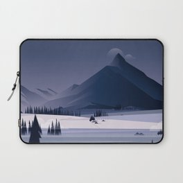 Alone In Nature - Winter Night Laptop Sleeve