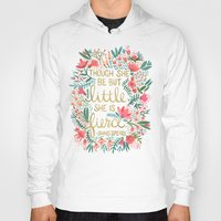 quote Hoodies featuring Little & Fierce by Cat Coquillette