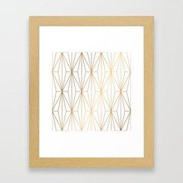 Gold Geometric Pattern Illustration Framed Art Print