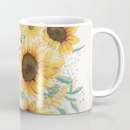 Loose Watercolor Sunflowers Coffee Mug