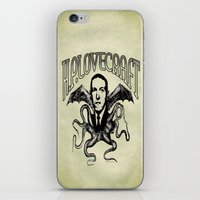 lovecraft iPhone & iPod Skins featuring H.P. LOVECRAFT by Bili Kribbs