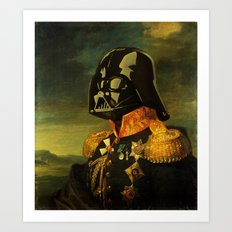Portrait of Lord Vader Art Print