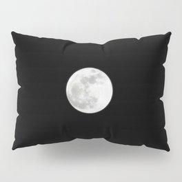 View of the super moon in the eastern sky over Kennedy Space Center in Florida Pillow Sham