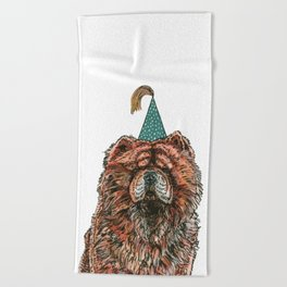 Chow Party Beach Towel
