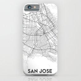 Minimal City Maps - Map Of San Jose, California, United States iPhone Case