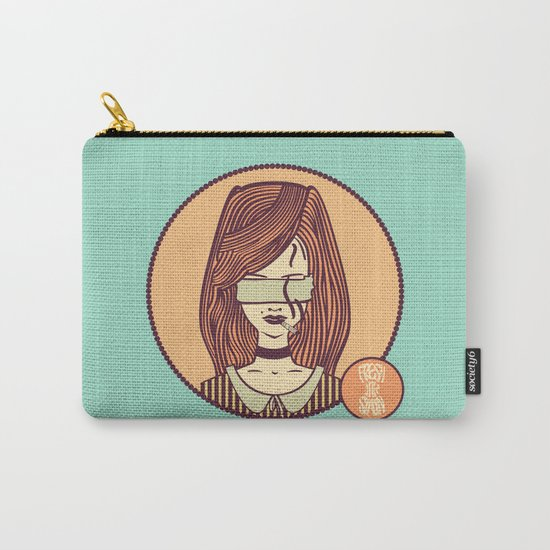 self-portrait (colored) Carry-All Pouch