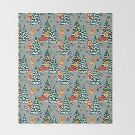 Merry Corgmess Throw Blanket