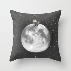 Lost in a Space / Moonelsh Throw Pillow