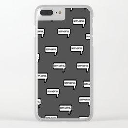 Sempiternal - Grey Clear iPhone Case