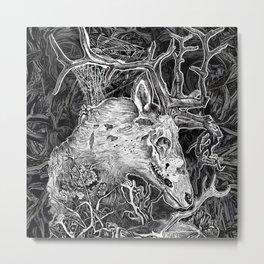 Elk Decay Metal Print