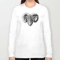 bioworkz Long Sleeve T-shirts featuring Ram Head by BIOWORKZ