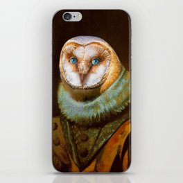 Animals - Funny Owl Painting iPhone Skin