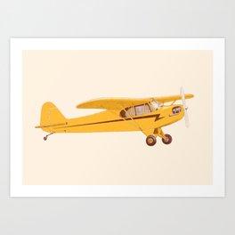 Little Yellow Plane Art Print