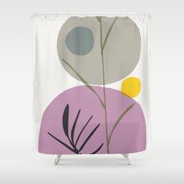 zen garden stones ikebana Shower Curtain