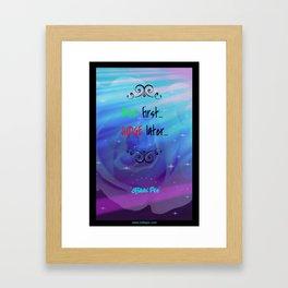 Ask First Framed Art Print