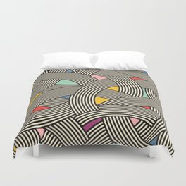 Modern Scandinavian Multi Colour Color Curve Graphic Duvet Cover