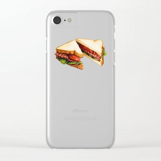 Sandwich Pattern BLT Clear iPhone Case