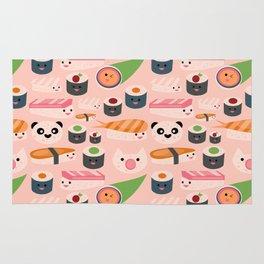 Kawaii sushi light pink Rug