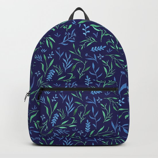 Leaf pattern - dark Backpack