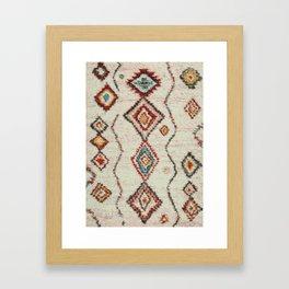colorful berber carpet Framed Art Print