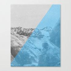 NEON NATURE   Blue Canvas Print