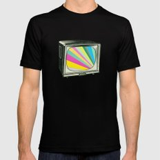 Your Programme Will Resume Shortly MEDIUM Black Mens Fitted Tee