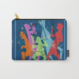 Mid-Century Modern Jazz Band Carry-All Pouch