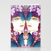 nouveau Stationery Cards featuring Nouveau by Kundalini Arts