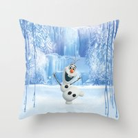 olaf Throw Pillows featuring OLAF by Electra