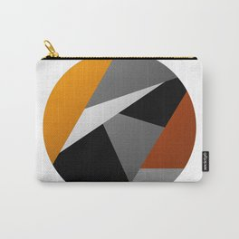Metallic Moon - Abstract, metallic textured geometric moon space artwork Carry-All Pouch