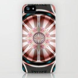 Pinwheel Hubcap in Pink iPhone Case