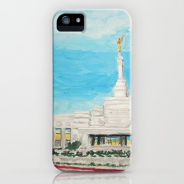 Reno Nevada LDS Temple Painting iPhone Case