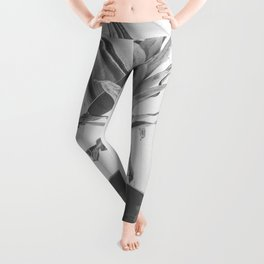 Party Pineapple in Black and White Leggings