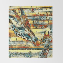 AnimalArt_Giraffe_20170901_by_JAMColorsSpecial Throw Blanket