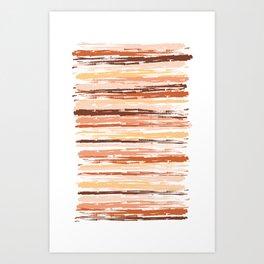 Painted Strokes  Art Print