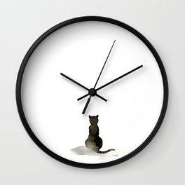 I Love Cats No. 2 by Kathy Morton Stanion Wall Clock