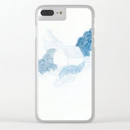 Blue house Clear iPhone Case