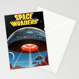 Invaders of Space, 1980s (Cover Art Recreation) Stationery Cards