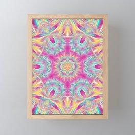 Flower Of Life Mandala (Rainbow Delight) Framed Mini Art Print