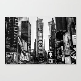 Time Square in black and white. Canvas Print