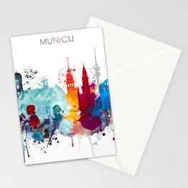 Munich City Skyline Stationery Cards