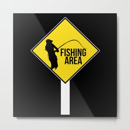 Fishing Sign Metal Print
