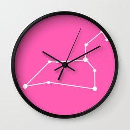 Leo (White & Pink) Wall Clock