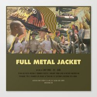 stanley kubrick Canvas Prints featuring Full Metal Jacket - Stanley Kubrick by Smart Store