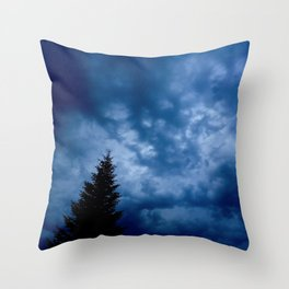Stormy Day Photography Throw Pillow