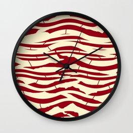 ZEBRA RED TTY N12 Wall Clock