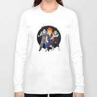 dbz Long Sleeve T-shirts featuring DBZ - Mighty Fusion by Mr. Stonebanks