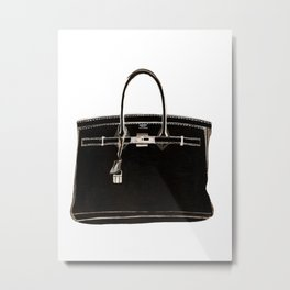 FRENCH CLASSIC BAG Metal Print