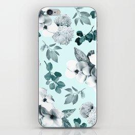 Night bloom - moonlit mint iPhone Skin