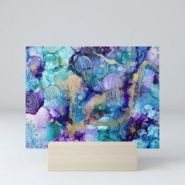 Jellyfish abstract Mini Art Print